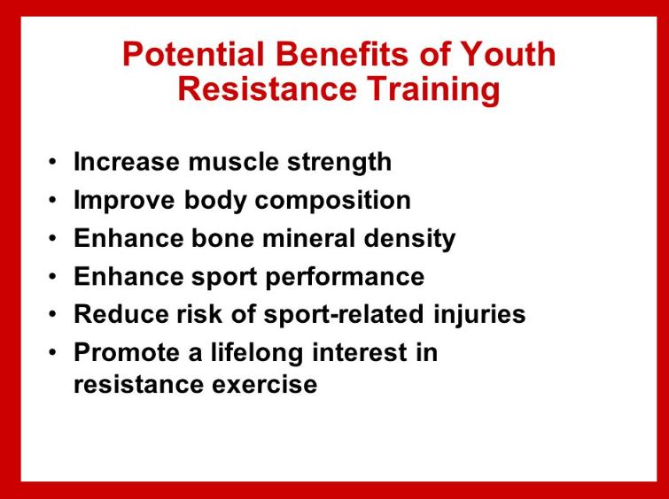 Youth and Resistance Training